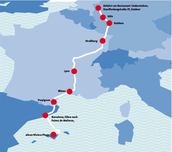Die Route von Norbert