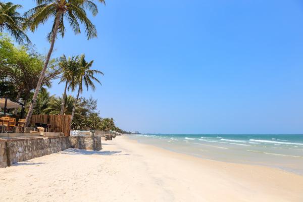 Hua Hin beach near Hua Hin city