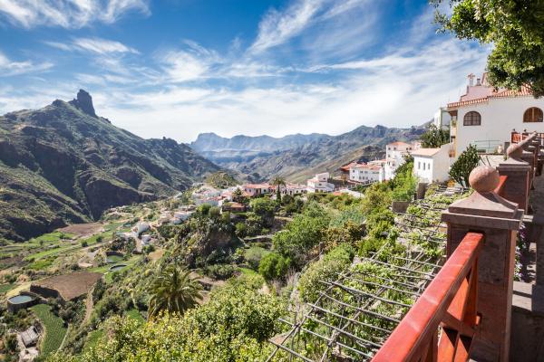 Tejeda - Gran Canaria - Blick ins Tal