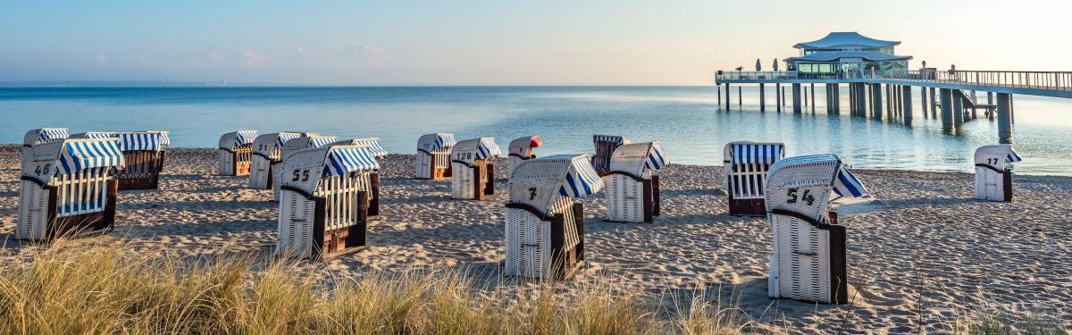 Strandkörbe in Timmendorfer Strand, Ostsee