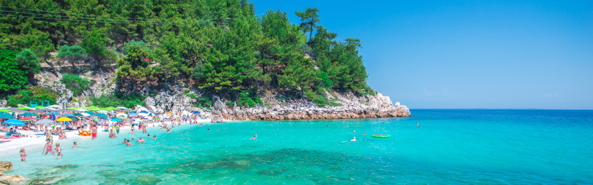 Coastline in Thassos island at the summer season, greece